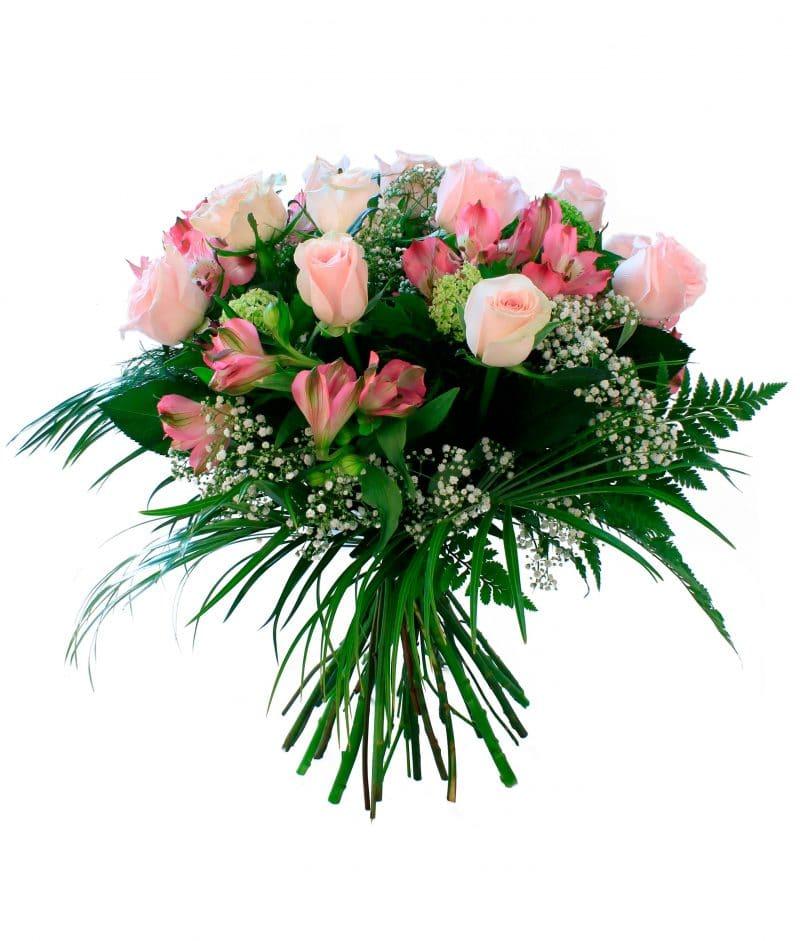 ramo-tonos-pastel-48e-doce-hermosas-rosas-con-flores-variadas