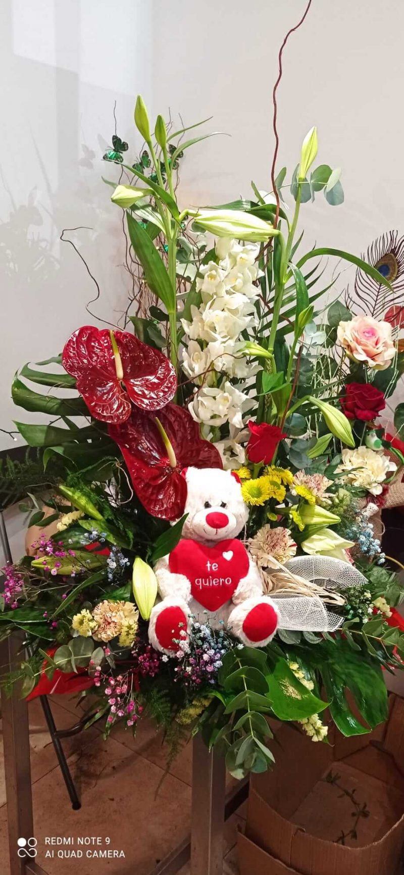 Centro de flor amor y pasión.60€y80€,,120€